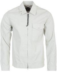 Pretty Green Nautical Zip Overshirt - Grey