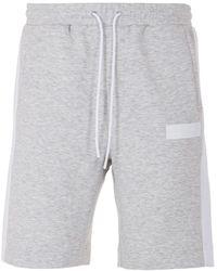 BOSS by HUGO BOSS Headlo Batch Contrast Panel Sweat Shorts - Grey