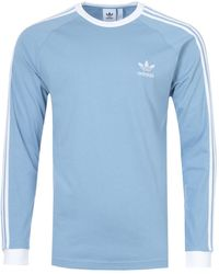 adidas Originals Classics 3-stripes Long Sleeve T-shirt - Blue