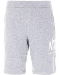 Armani Exchange Icon Sweat Shorts - Grey