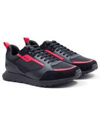 HUGO Icelin Nylon Runner Sneakers - Black