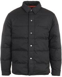 Uniform Bridge Down Shirt Jacket - Black