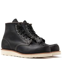 """Red Wing 8890 Classic 6"""" Moc Charcoal Rough & Tough Boots - Black"""