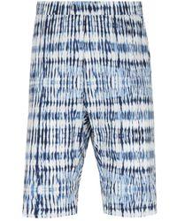 Barena Graphic Print Blue Argo Shorts