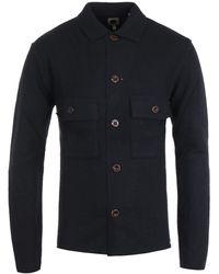 Pretty Green Boiled Wool Overshirt - Black