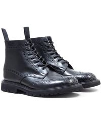 Tricker's Tricker's Stow Olivvia Leather Black Brogue Boots