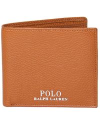 Polo Ralph Lauren - Brown Cow Leather Wallet - Lyst