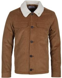 Farah - Kingsland Borg Lined Jacket In Tan - Lyst