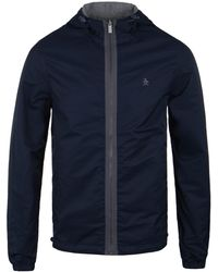 Original Penguin - Ratner Dark Sapphire Reversible Hooded Jacket - Lyst