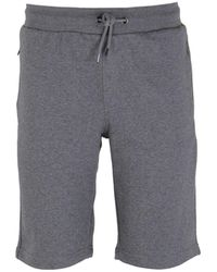 Emporio Armani Grey Logo Print Shorts