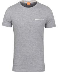 BOSS Orange - Tile Grey Marl Pique Short Sleeve T-shirt - Lyst