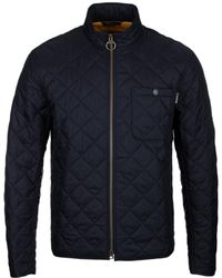 Barbour Axle Navy Quilted Jacket - Blue