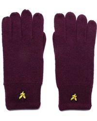 Lyle & Scott - Claret Jug Lambswool Knit Gloves - Lyst