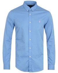 Polo Ralph Lauren Blue Featherweight Twill Slim Fit Shirt