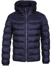C P Company Hooded Navy Reversible Down Liner - Blue