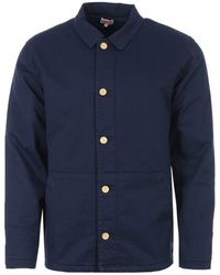 Armor Lux Heritage Quilted Fisherman Jacket - Blue