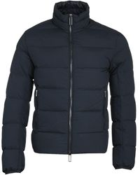 Emporio Armani Navy Puffer Jacket - Blue