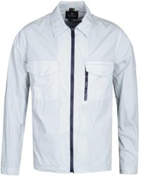 PS by Paul Smith Zip Through Dusty Blue Overshirt