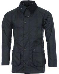 Barbour White Label Sl Beadle Black Watch Waxed Cotton Jacket - Blue