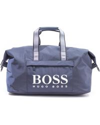 BOSS by HUGO BOSS Magnif Logo Navy Holdall Bag - Blue