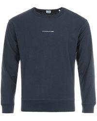 NN07 - Jerome Sustainable Cotton Sweatshirt - Blue - Lyst