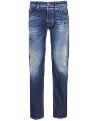 DIESEL Larkee Pantaloni Straight Fit Dark Blue Fade Denim Jeans