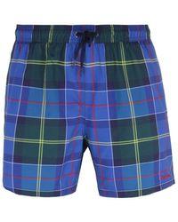 Barbour Tartan Blue Swim Shorts