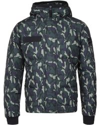 True Religion | Night Shade Camo Hooded Jacket | Lyst