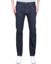 Emporio Armani Regular Tapered Dark Wash Blue Denim Jeans