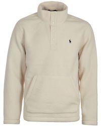 Polo Ralph Lauren Cream Mockneck Fleece - White