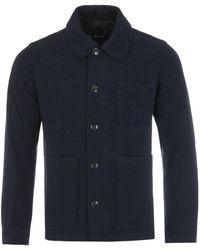 Barbour Kennington Wool Coat - Blue