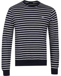 Paul & Shark - Navy Breton Stripe Sweatshirt - Lyst