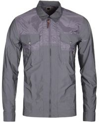 Pretty Green - Robinia Iridescent Grey Overshirt - Lyst