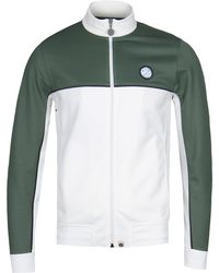Pretty Green - Irwell Green Contrast Panel Track Top - Lyst