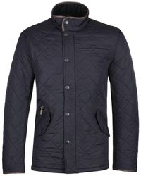 Barbour Powell Navy Quilted Jacket - Blue