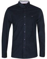 Tommy Hilfiger - Navy Corduroy Shirt - Lyst