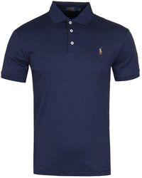Polo Ralph Lauren Slim Fit Pima Polo Shirt - Spring Navy - Blue