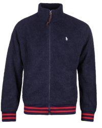 Polo Ralph Lauren Faux-shearling Navy Fleece - Blue