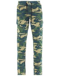 True Religion Green Camo Cargo Pants