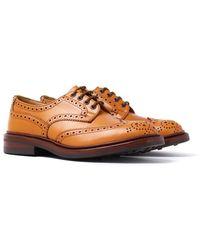 Tricker's - Tricker's Bourton Acorn Antique Leather Brogue Shoes - Lyst