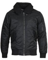 Lacoste Black Bomber Jacket