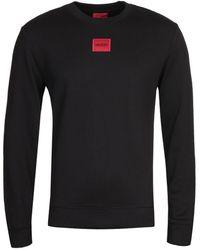 HUGO Diragol Logo Black Sweatshirt