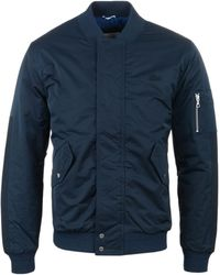 Lacoste - Navy Quilted Blouson Jacket - Lyst