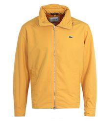 Lacoste Lightweight Yellow Windbreaker