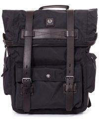 Belstaff Covert Cotton Canvas Backpack - Black