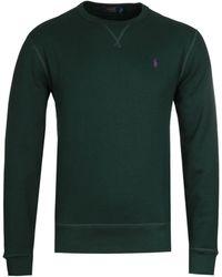 Polo Ralph Lauren - Logo Fleece Forest Green Sweatshirt - Lyst