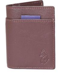 Luke 1977 Wicks Contrast Tab Brown Card Holder