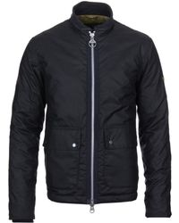 Barbour - Injection Navy Wax Cotton Jacket - Lyst