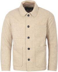 Barbour Kennington Wool Coat - Natural