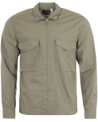 Pretty Green Connor Ripstop Overshirt - Natural